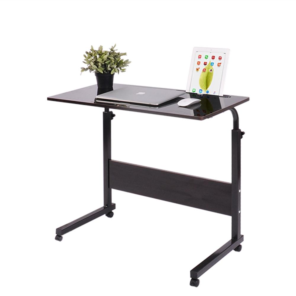 Removable Laptop Desk Lazy Bed Study Desk Bedside Computer Desk,  Size:50x50cm (White Maple)