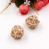 10 PCS Artificial Straw Ball For Birthday Party Wedding Christmas Home Decor (Wood Color)