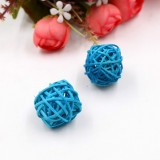 10 PCS Artificial Straw Ball For Birthday Party Wedding Christmas Home Decor (Blue)