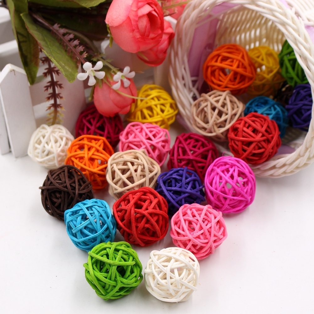 10 PCS Artificial Straw Ball For Birthday Party Wedding Christmas Home Decor (Coofee)