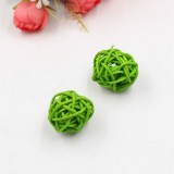 10 PCS Artificial Straw Ball For Birthday Party Wedding Christmas Home Decor (Green)