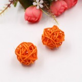 10 PCS Artificial Straw Ball For Birthday Party Wedding Christmas Home Decor (Orange)