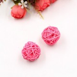 10 PCS Artificial Straw Ball For Birthday Party Wedding Christmas Home Decor (Pink)