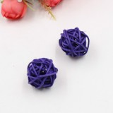 10 PCS Artificial Straw Ball For Birthday Party Wedding Christmas Home Decor (Purple)