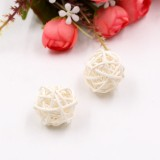 10 PCS Artificial Straw Ball For Birthday Party Wedding Christmas Home Decor (White)