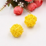 10 PCS Artificial Straw Ball For Birthday Party Wedding Christmas Home Decor (Yellow)