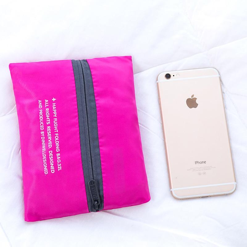 Fashion Large Capacity Bag Women Nylon Folding Bag Unisex Luggage Travel Handbags (Rose red)