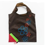 2 PCS Creative Strawberry Shopping Reusable Folding Reusable Grocery Shopping Bag (Brown)