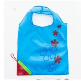 2 PCS Creative Strawberry Shopping Reusable Folding Reusable Grocery Shopping Bag (Blue)