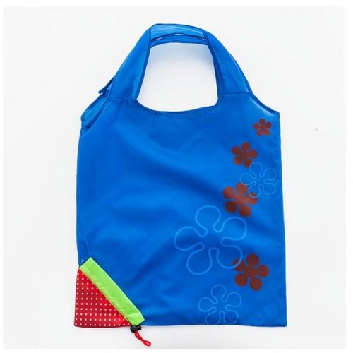 2 PCS Creative Strawberry Shopping Reusable Folding Reusable Grocery Shopping Bag (DeepBlue)