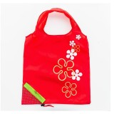 2 PCS Creative Strawberry Shopping Reusable Folding Reusable Grocery Shopping Bag (Red)