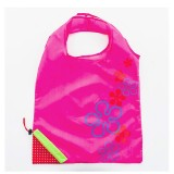 2 PCS Creative Strawberry Shopping Reusable Folding Reusable Grocery Shopping Bag (Rose Red)