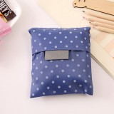 2 PCS Printing Foldable Shopping Bag Large-Capacity Storage Bags (Dark blue dots)