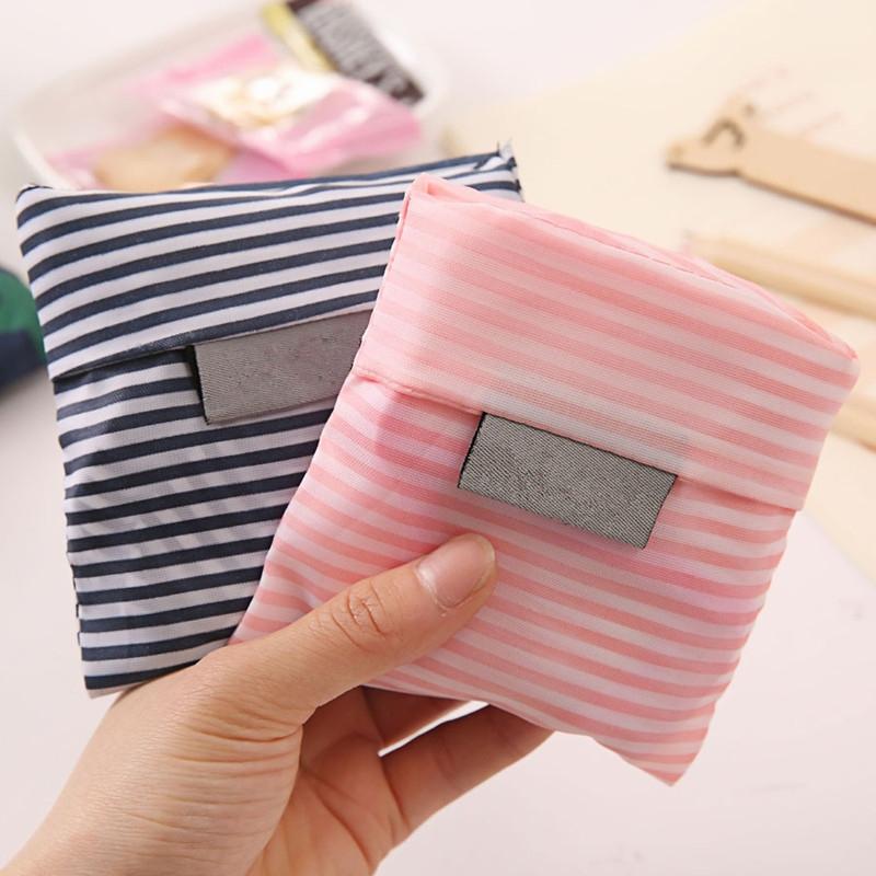 2 PCS Printing Foldable Shopping Bag Large-Capacity Storage Bags (Dark blue dots)