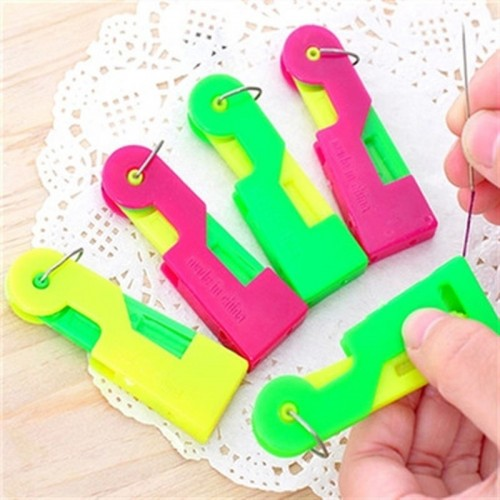 10 PCS Automatic Threader Elderly Guide Needle Easy Device Thread Sewing Tool (Random Color)