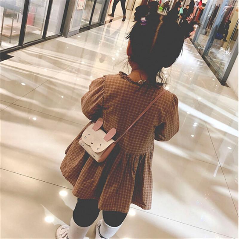 Girls PU Coin Purse Bag Wallet Kids Rabbit One Shoulder Bag Small Coin Purse (Pink)