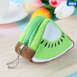 Cute Fruit Wallet Gift Plush Coin Purse Female Bag (Kiwi)