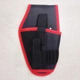 Portable Cordless Drill Holder Drill Cordless Screwdriver Waist Power Tool Bag Drill Waist Tool Belt Bag (Red)