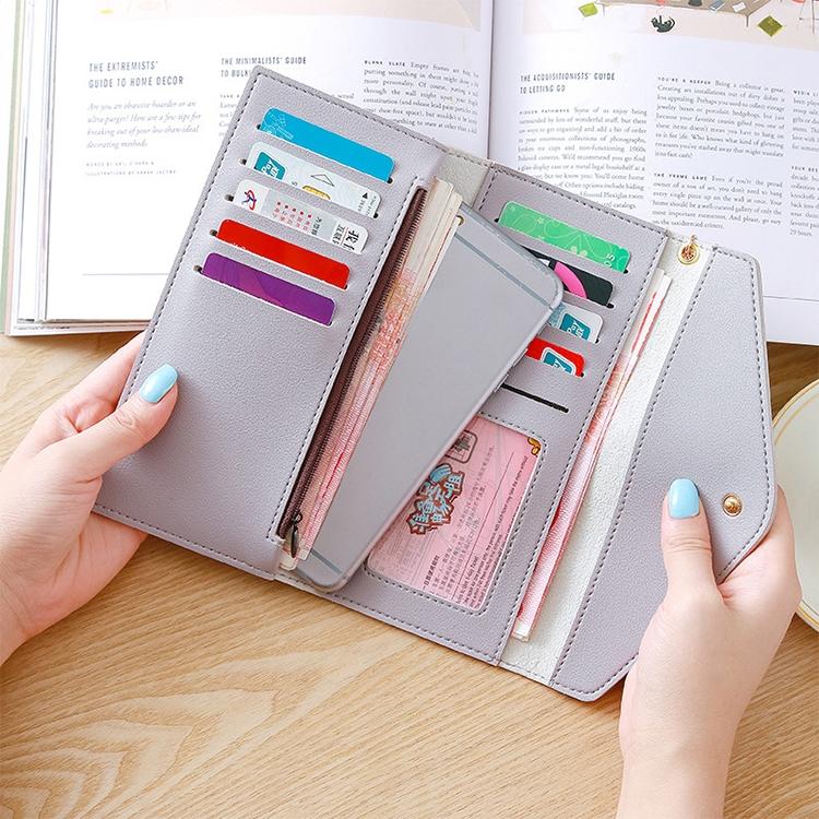 Long Wallet Women Purses Tassel Fashion Coin Purse Card Holder Wallets Female Clutch PU Leather Wallet (Black)