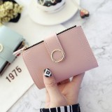 Women Wallets Small Fashion Leather Purse Ladies Card Bag For Female Purse Money Clip Wallet (Black)