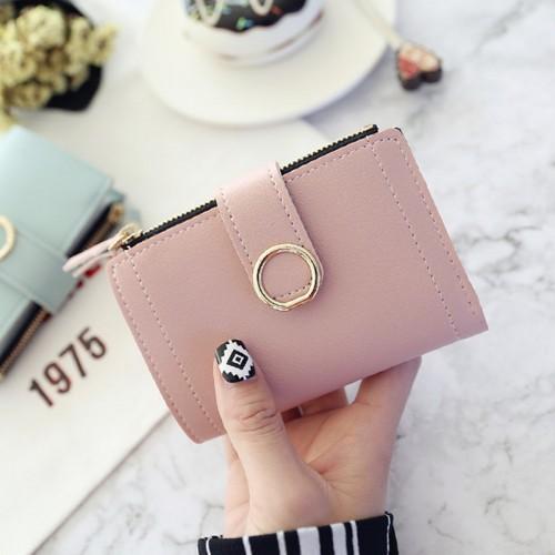 Women Wallets Small Fashion Leather Purse Ladies Card Bag For Female Purse Money Clip Wallet (Dark Green)