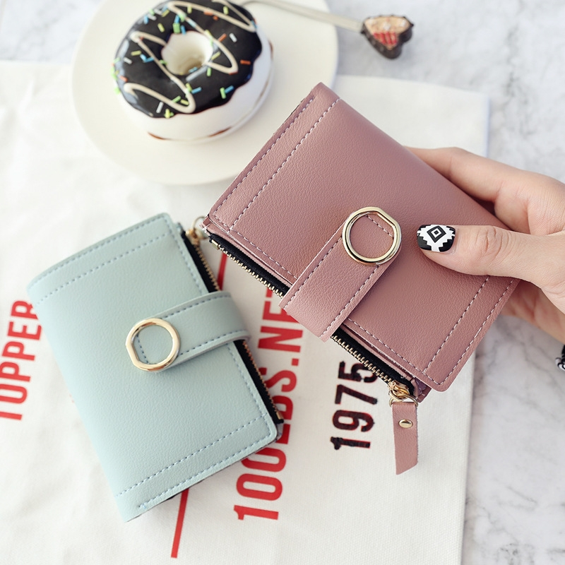 Women Wallets Small Fashion Leather Purse Ladies Card Bag For Female Purse Money Clip Wallet (Light Green)