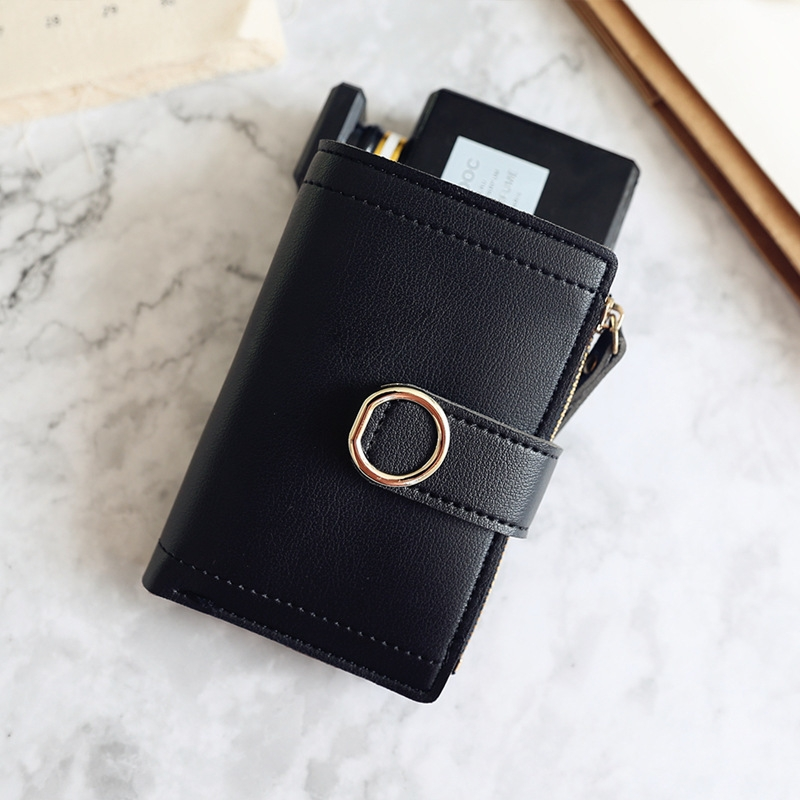 Women Wallets Small Fashion Leather Purse Ladies Card Bag For Female Purse Money Clip Wallet (Light Pink)