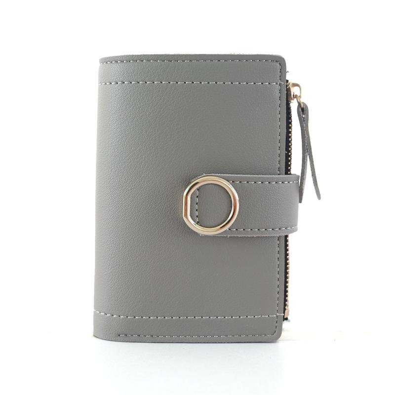 Women Wallets Small Fashion Leather Purse Ladies Card Bag For Female Purse Money Clip Wallet (Purple)