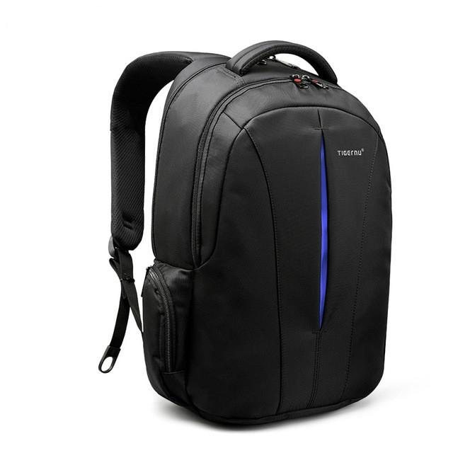 Waterproof 15.6-inch Laptop Backpack Anti-theft Business Travel Backpack School Bag (Black+Blue)