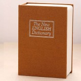 Mini Dictionary Safe Box Book Secret Security Lock Cash Money Coin Storage Jewellery key Locker (Yellow)