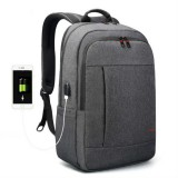 Tigernu Anti-thief Laptop Backpack Travel Backpack with USB Charging Port (Dark Grey)