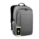 Tigernu Anti-thief Laptop Backpack Travel Backpack with USB Charging Port (Grey)