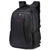 Anti-theft Nylon Laptop Backpacks School Fashion Travel Male Casual Schoolbag 15.6 inch (Black)