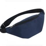 Unisex Waterproof Waist Pack Belly Bags Purse (Dark Blue)