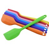 2 PCS Kitchen Silicone Cream Cake Spatula Mixing Scraper Brush Butter Mixer Brushes Baking Tool Kitchenware (Orange)
