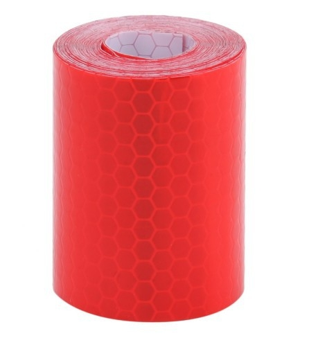 Car Motorcycles Reflective Material Tape Sticker Safety Warning Tape Reflective Film (Red)