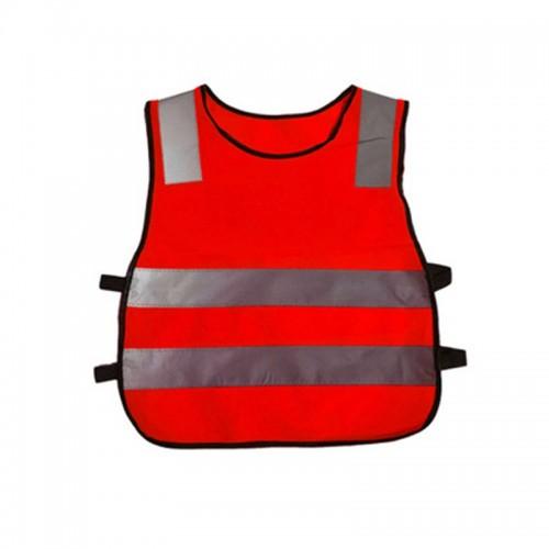 Safety Kids Reflective Stripes Clothing Children Reflective Vest (Red)