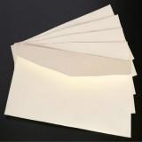 10 PCS Kraft Paper Envelope Message Card Letter Stationary Storage Paper Gift,Size: 22x11cm (White)