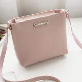 Women Solid zipper Shoulder Bag Crossbody Bag Messenger Phone Coin Bag (Pink)