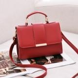 Women Bag Leather Handbags PU Shoulder Bag Small Flap Crossbody Bags for Women Messenger Bags (Red)
