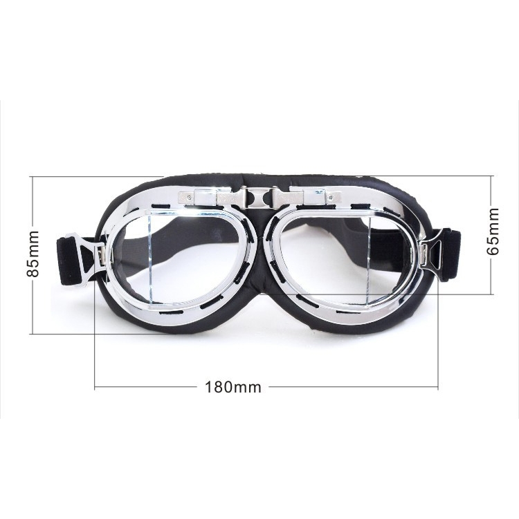 Protective Glasses Dustproof Anti-wind / Sand Riding Motorcycle Goggles Industrial Goggles (Silver Plating Lens)