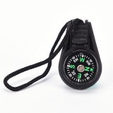 50 PCS Key Chain Mini Compass Gear Outdoor Camping Hiking Navigator Utility Gear Survival Pocket Compass Tool (Black)