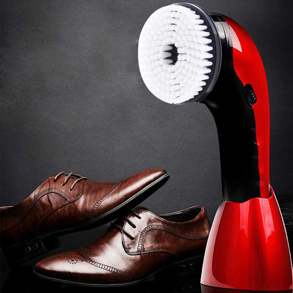 CNaier AE-710 Portable Handheld Automatic Electric Shoe Brush Shine Polisher (Silver)