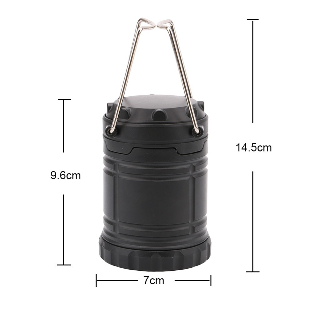3W Portable COB LED Lantern Collapsible Tent Lamp Outdoor Waterproof Camping Hiking Light