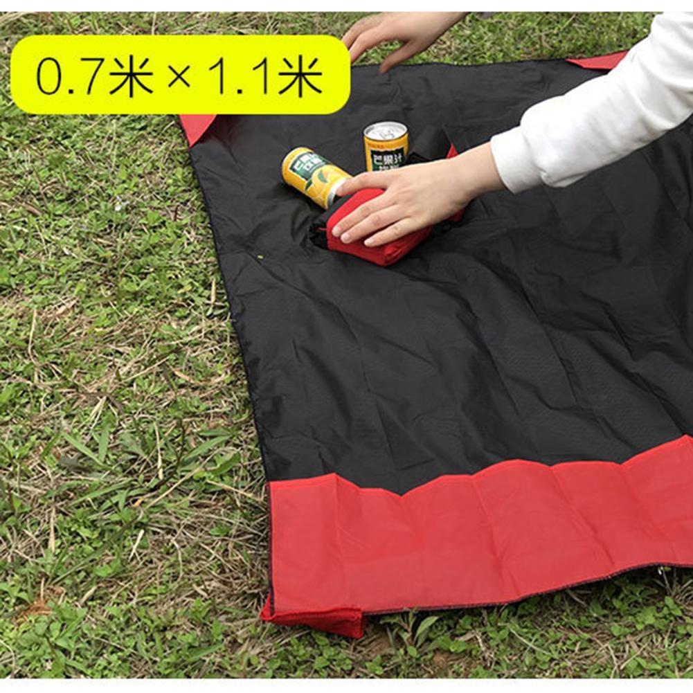 Portable Ultra-thin Folding Camping Mat Pocket Waterproof Blanket Outdoor Picnic Mat Sand Beach Mat, Size: 70*110cm (Blue)
