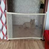 Dog Pet Fences Portable Folding Safe Protection Safety Door Magic Gate For Dogs Cat Pet, Size: 110cm x72cm (Beige)