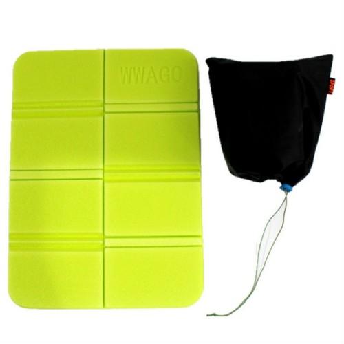 XPE Folder Camping Mat Folding Portable Small Cushion Moisture-Proof Waterproof Prevent Dirty Picnic Mat Beach Pad (Fruit Green)