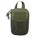 1000D Nylon Tactical Bag Outdoor Waist Fanny Pack Mobile Phone Key Mini Tools Waterproof Sport Pouch (Army Green)