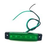 4 PCS 12V 6 SMD Auto Car Bus Truck Wagons External Side Marker Lights LED Trailer Indicator Light Rear Side Lamp (Green)