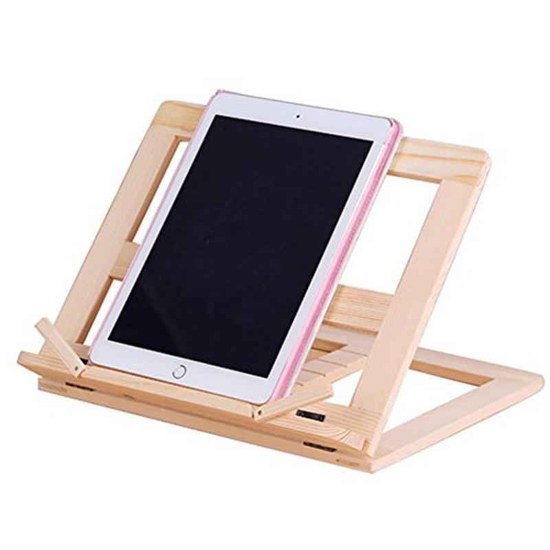 Wooden Frame Book Reading Bookshelf Bracket Support Tablet PC Music Stand Drawing Easel